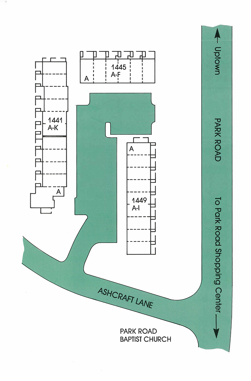 Park Place community map and site plan