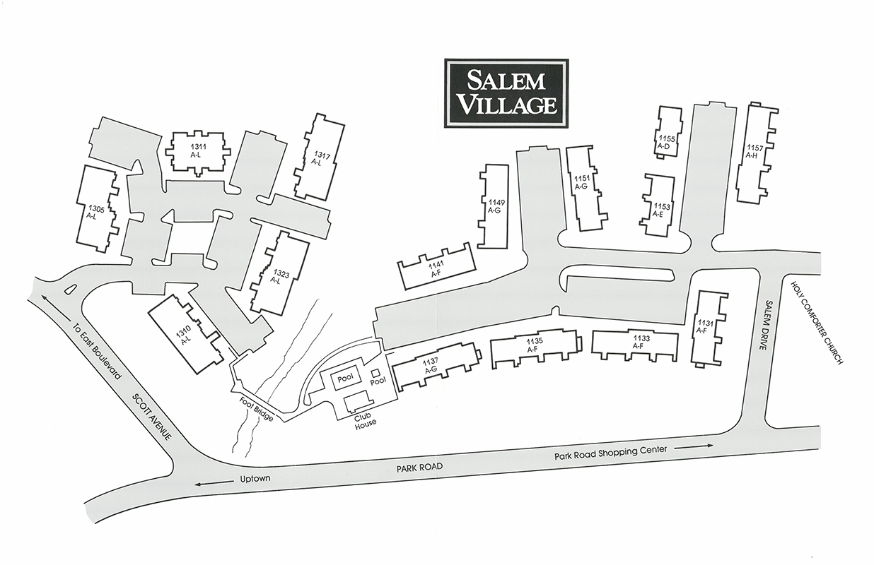 Salem Village community map and site plan