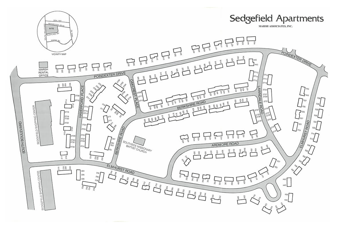Sedgefield community map and site plan