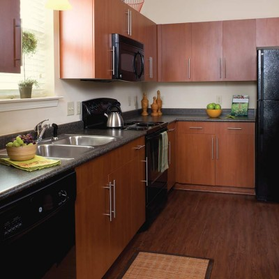 Kitchen area of Providence Park apartment home