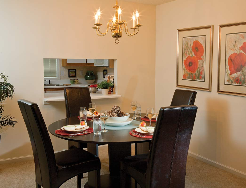 Salem Village Apartment Dining Area