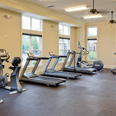 Gym area at Strawberry Hill Apartments