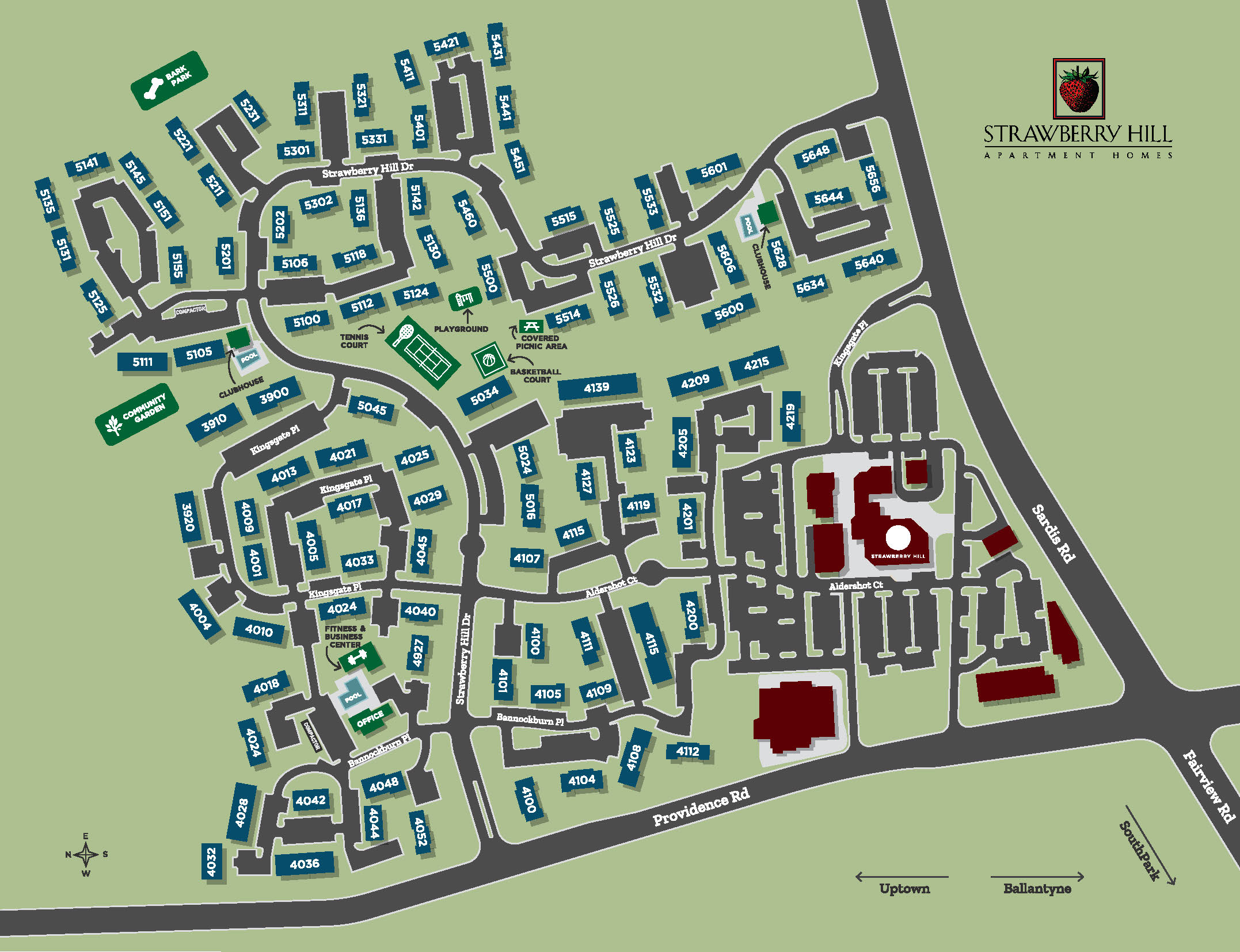 Strawberry Hill Siteplan