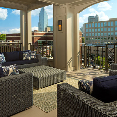 Terrace at the Lexington Dilworth apartments