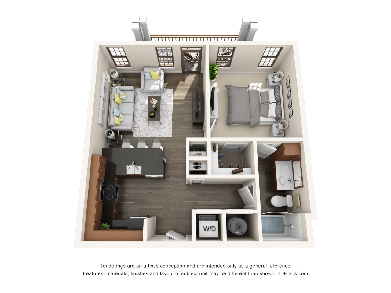 The Lexington Dillworth 1 bedroom/1 bath THE DILWORTH floor plan