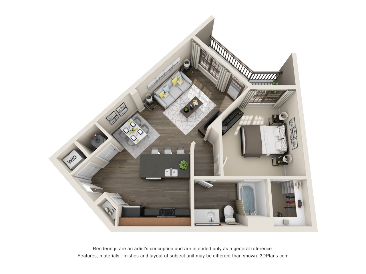 The Lexington Dillworth 1 bedroom/1 bath THE LATTA floorplan