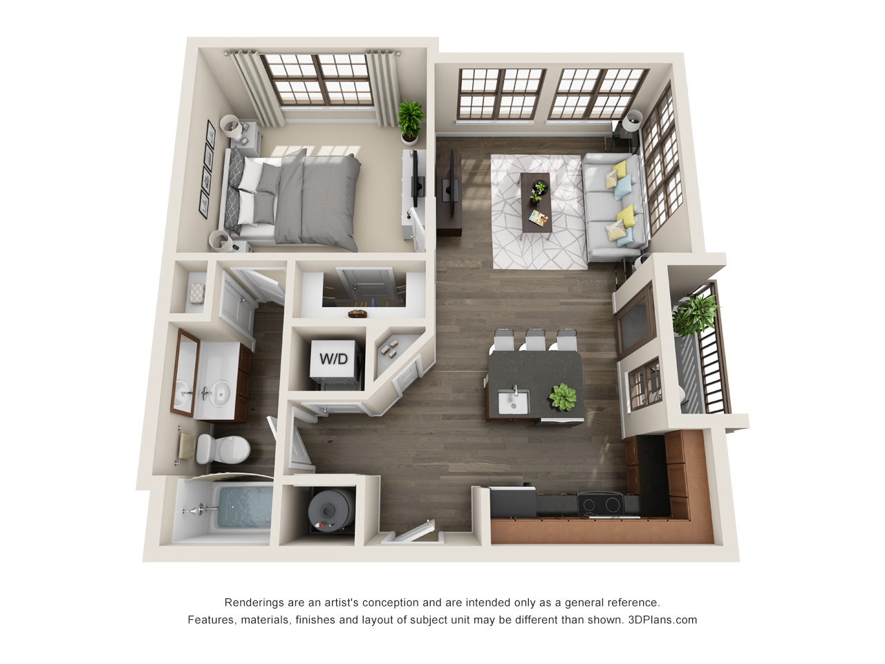 The Lexington Dilworth on 2 Bedroom Apartment Floor Plan