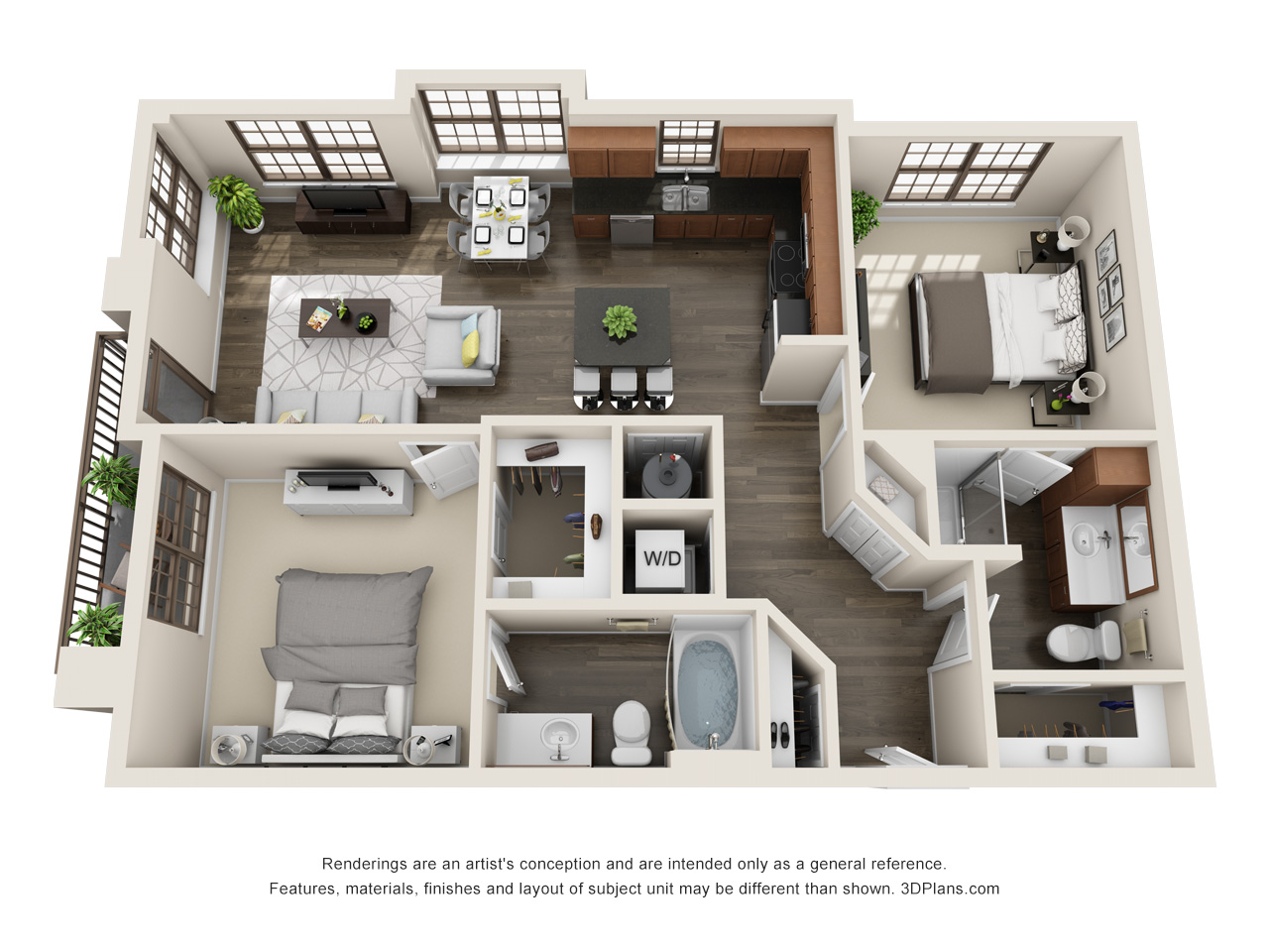 The Lexington Dillworth 2 bedroom/2 bath THE ELIOT floorplan