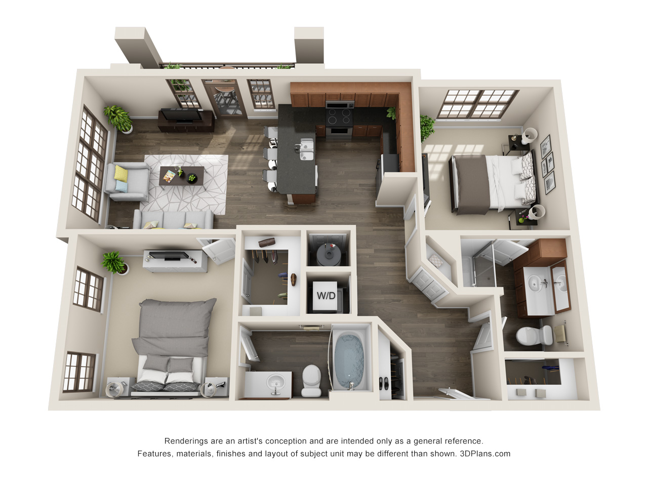 The Lexington Dillworth 2 bedroom/2 bath THE ELIOT 2 floorplan