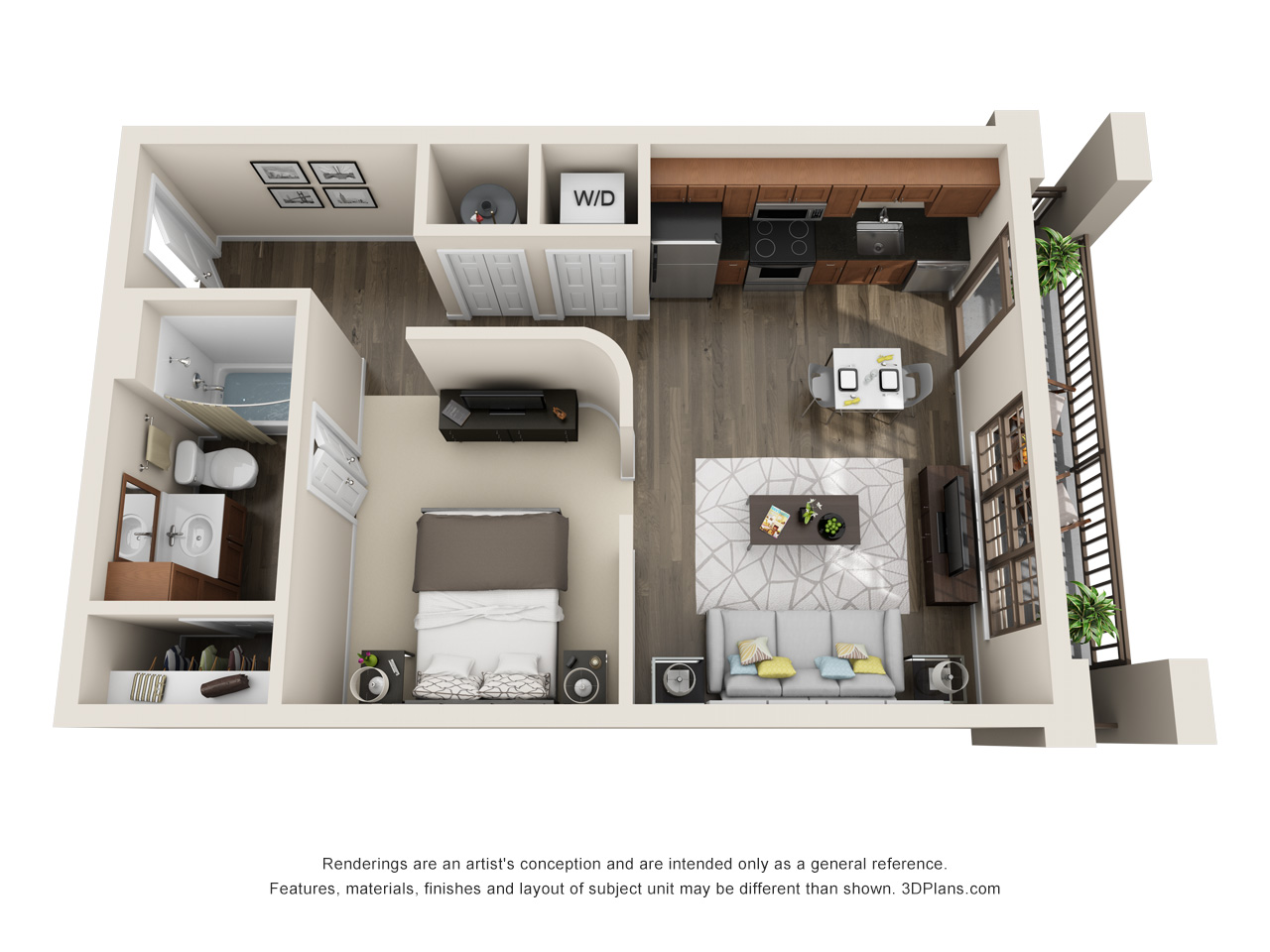 The Lexington Dillworth studio/1 bath THE SPRINGS floorplan