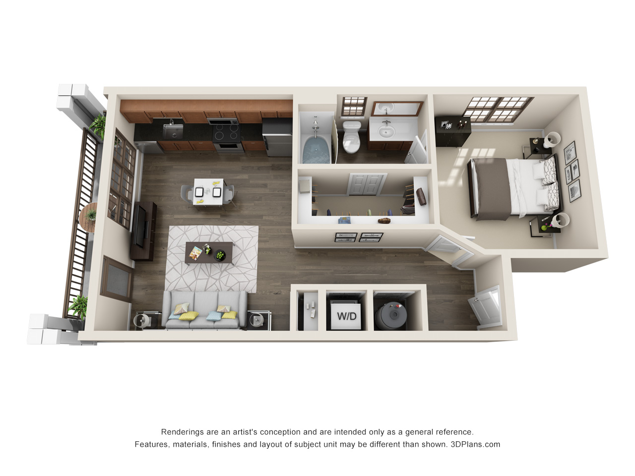 The Lexington Dillworth studio/1 bath THE SPRINGS 2 floorplan