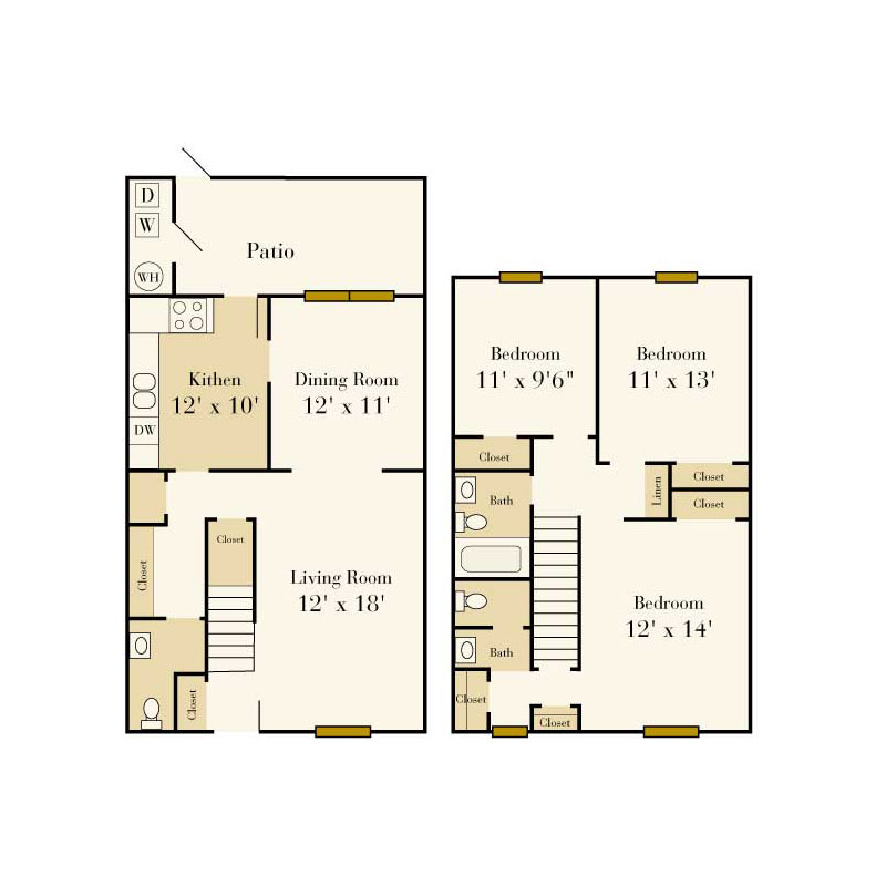 2 Bedroom Apartments For Rent In Queens: Elmhurst Townhomes And Apartments In Charlotte, NC