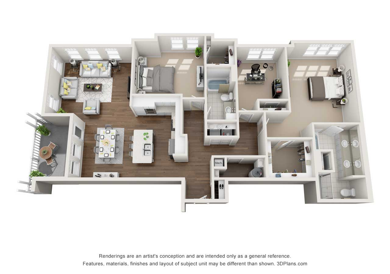 Providence Flats Apartments Floorplan The Bromley