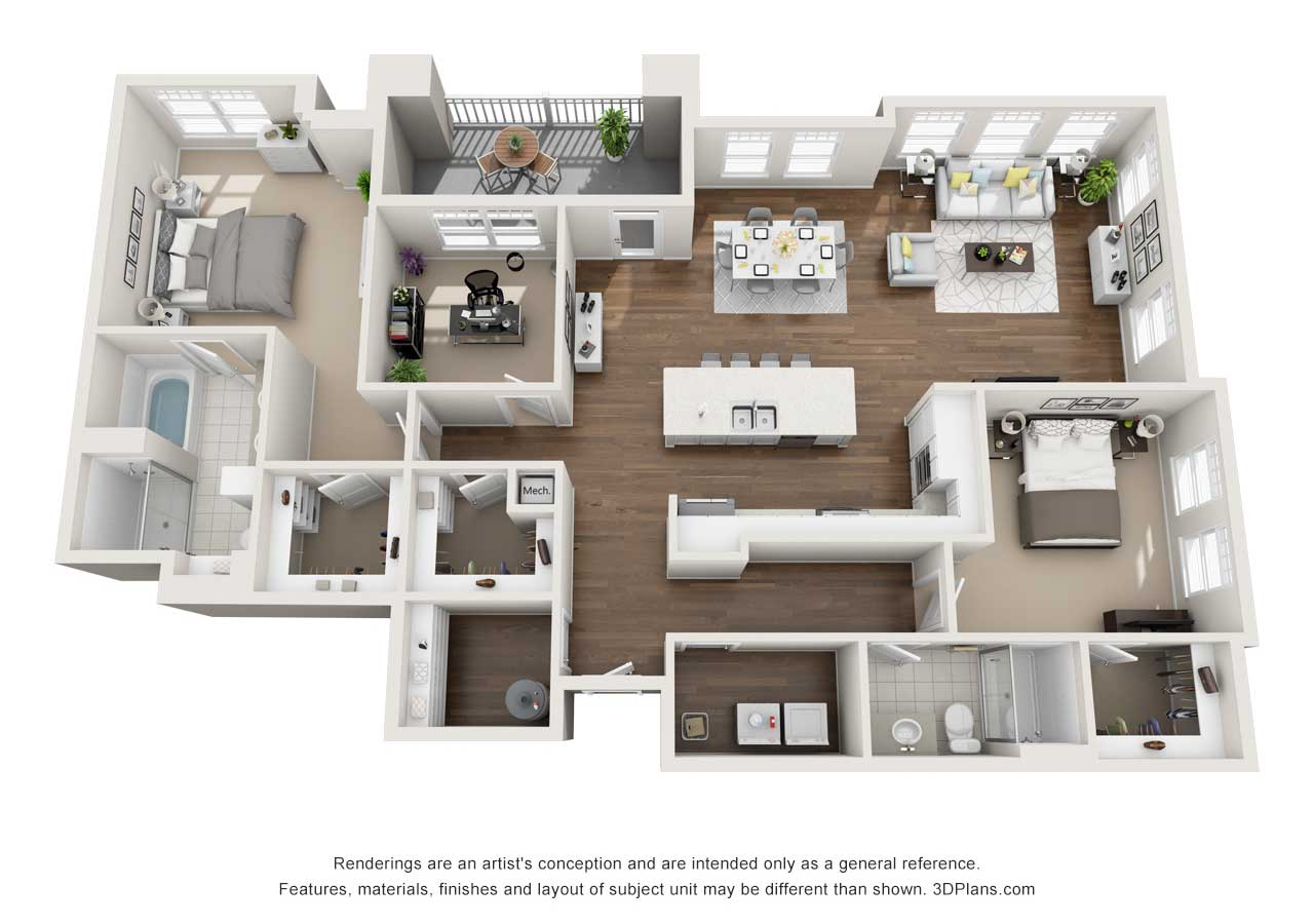 Providence Flats Apartments Floorplan The Harvard